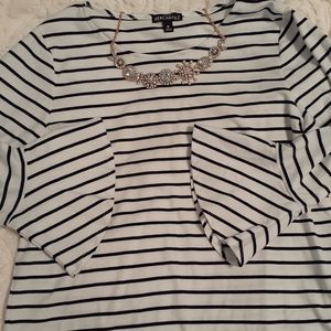 Womens J. Crew 3/4 Sleeve Top